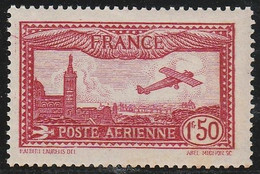 PA 5** 1.50F. CARMIN AVION SURVOLANT MARSEILLE - 1927-1959 Ungebraucht