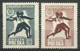 Poland 1954 Mi 864-865 Fi 721-722 MNH  (ZE4 PLD864-865) - Atletica