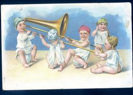 Cpa Fantaisie Chérubins Jouant Du Tuba Trompette    SPT21-03 - Music And Musicians