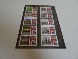 England Universal Mail 2 Streifen Stonehenge Postfrisch (18076) - Universal Mail Stamps