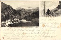 CPA Berisal Wallis, Hôtel Pension, Poste, Le Bortel, Horn - VS Valais