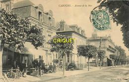 14 Cabourg, Avenue De La Mer, Cyclistes Devant Un Café Au 1er Plan - Cabourg