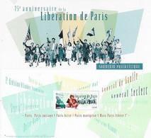 Blocs Souvenir Neuf N°157.  75e Anniversaire De La Libération De Paris...G891 - Souvenir Blocks & Sheetlets