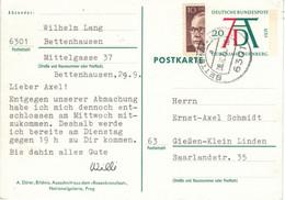 Bettenhausen 6301 1975 - Ganzsache Dürer Jahr Nürnberg 1971 Halbierung Heinemann - Cartoline - Usati