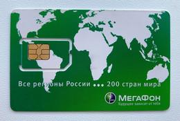 RUSSIA - MegaFon World Map - 200 Countries - MINT GSM SIM Phone Card - Rusia