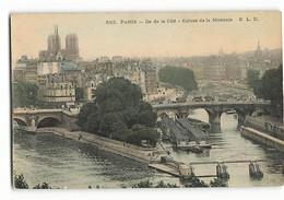 Rare 583 ELD Les Péniches à L'écluse De La Monnaie ILE DE LA CITE Notre Dame  Paris  E LE DELEY - Arrondissement: 04