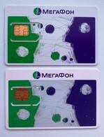 RUSSIA - MegaFon 2 Different Cards - MINT GSM SIM Phone Card - Rusia