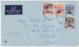 MALAYA SELANGOR - 1956 - ENVELOPPE Par AVION De PORT SWETTENHAM => MARSEILLE - Selangor