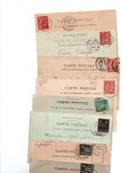 TIMBRE TYPE MOUCHON...SAGE...LOT DE 48 SUR CPA.......LOT 19 - 1900-02 Mouchon