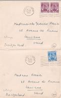 MALAYA SELANGOR - 1955 - 2 ENVELOPPES De KUALA LUMPUR => LAUSANNE (SUISSE) - Selangor