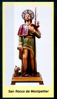 SANTINO - San Rocco Da Montpellier  - Santino Con Preghiera. - Devotion Images