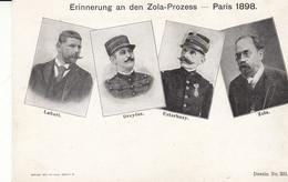Erinnerung An Den Zola-Prozess - Paris 1898 - Labori - Dreyfus - Esterhazy - Zola - People