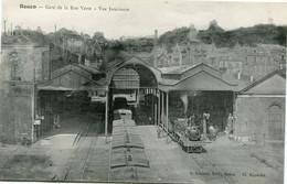 ROUEN - GARE De La RUE VERTE - VUE INTERIEURE - CLICHE RARE - - Rouen