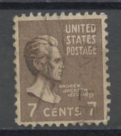 Etats Unis - Vereinigte Staaten - USA 1938 Y&T N°377 - Michel N°419 (o) - 7c A Jackson - Gebruikt
