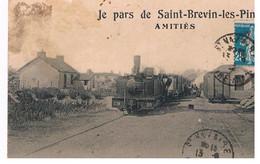 CPA Je Pars De ST BREVIN - Stations - Met Treinen