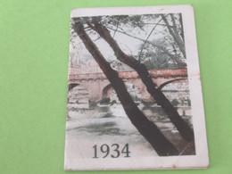 Petit Calendrier De Poche/Crême ECLIPSE/Brillant ECLIPSE / Cirage/1934 CAL479 - Small : 1921-40