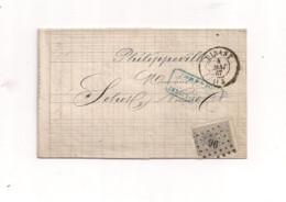 Belgique COB 17  Sur Lettre De DINANT Vers PHILIPPEVILLE - 1865-1866 Profile Left