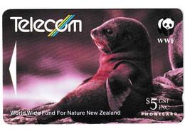 New Zealand Fur Seal WWF Phonecard Used B210915 - Non Classificati