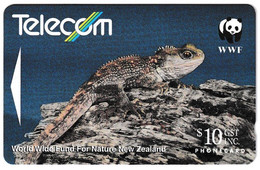 New Zealand Chatham Tuatara WWF Phonecard Used B210915 - Altri