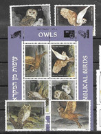 Israel Sheet And Set 1987 Mnh ** Owl Chouette Hibou Bird 17 Euros - Blocs-feuillets