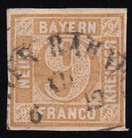 Bayern 11 Ziffer 9 Kreuzer - Mit Bahnpost-Kreissegmentstempel - Bavaria