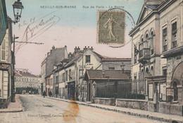 NEUILLY SUR MARNE    Rue De Paris Mairie Couleur - Neuilly Sur Marne