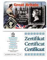 United Kingdom The First Eidition Of Postage Stamps Penny Black Phonecard Unused B210915 - Francobolli & Monete