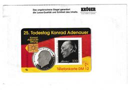Germany Konrad Adenauer Phonecard B210915 - Francobolli & Monete