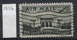 Etats Unis - Vereinigte Staaten - USA Poste Aérienne 1947 Y&T N°PA36 - Michel N°F560 (o) - 10c Washington - 2a. 1941-1960 Afgestempeld