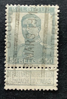 OBP 115 Gestempeld SPOORWEGSTEMPEL ZEE-BRUGGE CENTRE - 1912 Pellens