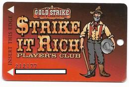 Gold Strike Casino, Jean, NV, U.S.A., Older Used Slot Or Player's Card, # Goldstrike-1 - Casinokarten