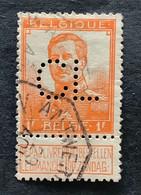 OBP 116 Gestempeld TELEGRAAFSTEMPEL ANTWERPEN ANVERS Perfin / Firmaperforatie CL - 1912 Pellens