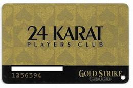 Gold Strike Casino, Robinsonville, MS, U.S.A., Older Used Slot Or Player's Card, # Goldstrike-2 - Casinokarten