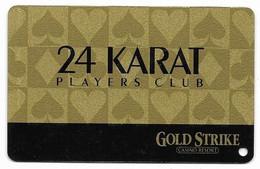 Gold Strike Casino, Robinsonville, MS, U.S.A., Older Used BLANK Slot Or Player's Card, # Goldstrike-2blank - Casinokarten