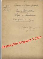 Projet De Superstructure / Ligne Esbly Crécy / SNCF Rail / Plan Ancien Daté 1901  Chemin De Fer / SNCF - Railway