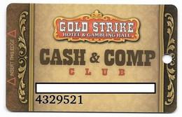 Gold Strike Hotel & Gambling Hall, Jean, NV, U.S.A., Older Used Slot Or Player's Card, # Goldstrike-3 - Casinokarten
