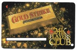 Gold Strike Casino, Robinsonville, MS, U.S.A., Older Used BLANK Slot Or Player's Card, # Goldstrike-4 - Casinokarten