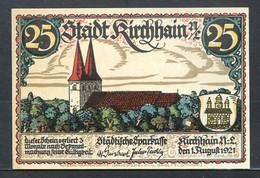 257-Kirchhain 25, 50 Et 75pf 1921 - [11] Lokale Uitgaven