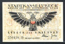 257-Lübeck 5x50pf 1921 Aigle - [11] Lokale Uitgaven
