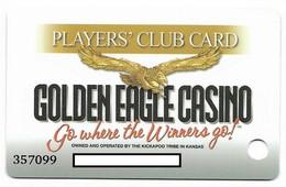 Golden Eagle Casino, Horton, KS, U.S.A., Older Used Slot Or Player's Card, # Goldeneagle-1 - Casinokarten