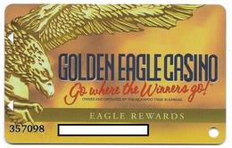 Golden Eagle Casino, Horton, KS, U.S.A., Older Used Slot Or Player's Card, # Goldeneagle-2 - Casinokarten