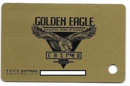 Golden Eagle Casino, Horton, KS, U.S.A., Older Used Slot Or Player's Card, # Goldeneagle-3 - Casinokarten