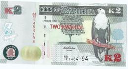 Zambia Een 2 Kwacha Biljet Uit 2012 UNC (3199) - Zambia