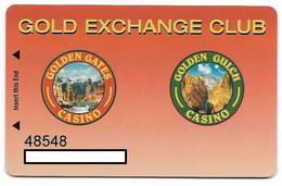 Golden Gates & Golden Gulch Casinos Black Hawk, CO, U.S.A., Older Used Slot Card, Goldengates-2 - Casinokarten