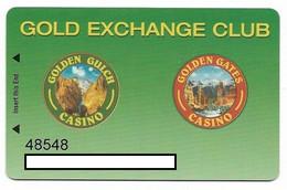 Golden Gates & Golden Gulch Casinos Black Hawk, CO, U.S.A., Older Used Slot Card, Goldengates-3 - Casinokarten