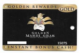 Golden Mardi Gras Casino, Black Hawk, CO, U.S.A.,  Older Used Slot Or Players Card, # Goldenmardigras-1 - Casinokarten