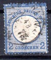"""Deutsches Reich Freimarken """"Adler Mit Großem Brustschild"""" Mi 20,  2 Gr, Gestempelt - Usados"""