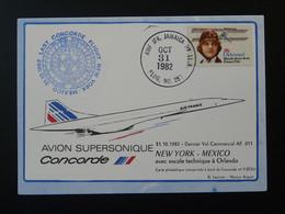 Carte Dernier Vol Concorde Last Flight New York Mexico 1982 Air France Ref 98401 - Concorde