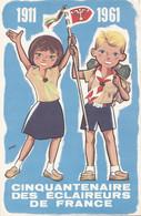 Scoutisme - Cinquantenaire Eclaireurs De France De Clermont-Ferrand - 1911-1961 Cachet - Illustrateur Georgy - Scouting