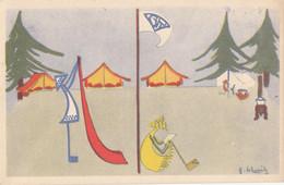 Scoutisme - Camp De Vacance Fillles - Illustrateur - Scouting